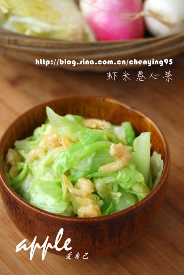 清炒虾米卷心菜的做法,怎么做,清炒虾米卷心菜如何做好吃详细步骤图解