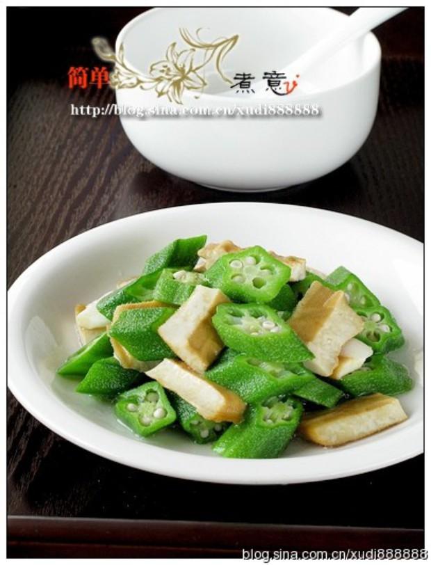 豆干炒秋葵的做法,怎么做,豆干炒秋葵如何做好吃详细步骤图解