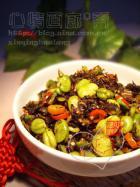 蚕豆炒酸菜的做法