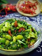 蚕豆炒韭菜的做法