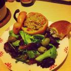 素食沙拉-烤甜椒瓤bulgur的做法