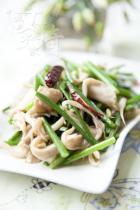 平菇炒韭苔的做法