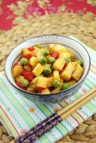 小炒马蹄竹笋蔬菜丁的做法