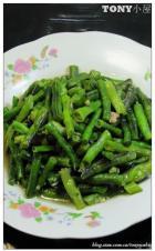蒜泥炒豇豆的做法