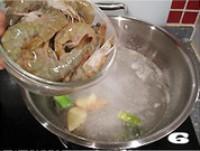 白灼大虾的做法图片步骤6