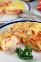 火腿番茄奶酪鸡蛋卷的做法