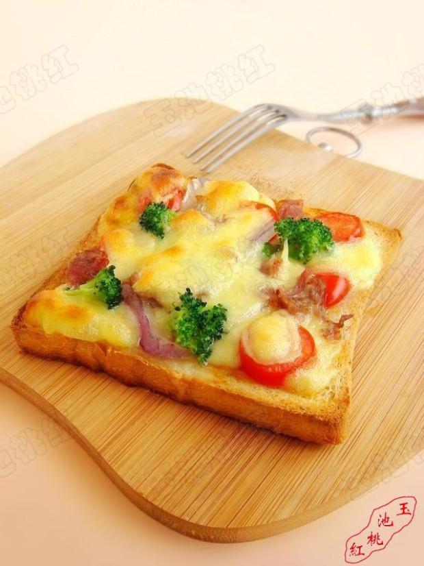 吐司培根小批萨的做法,怎么做,吐司培根小批萨如何做好吃详细步骤图解