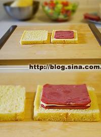 港式小食火腿西多士的做法图片步骤4