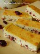 蔓越莓奶酪条的做法