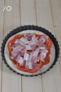 厚底鲜虾培根披萨的做法图片步骤10