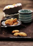 芝麻蛋香小饼的做法