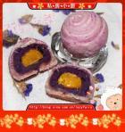 紫薯蛋黄酥的做法