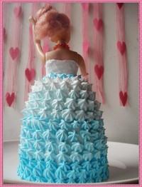 芭比娃娃蛋糕的做法第4步图片步骤 www.027eat.com