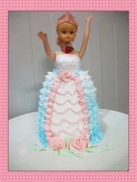 芭比娃娃蛋糕的做法第6步图片步骤 www.027eat.com