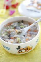 香菇鸡茸蔬菜粥的做法