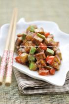 酱香什锦豆腐丁的做法