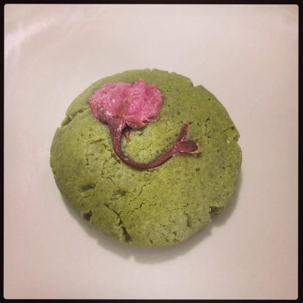 抹茶樱花饼的做法