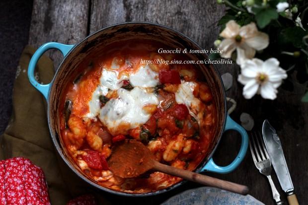 意式烘烤西红柿马铃薯团子的做法