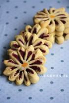 紫薯菊花酥的做法