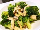 香菇西兰花鸡肉条的做法
