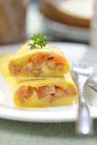 煎火腿奶酪蛋卷的做法