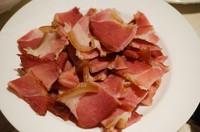 香干炒腊肉的做法第1步图片步骤 www.027eat.com