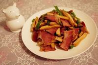 香干炒腊肉的做法第8步图片步骤 www.027eat.com