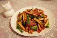 香干炒腊肉的做法第9步图片步骤 www.027eat.com