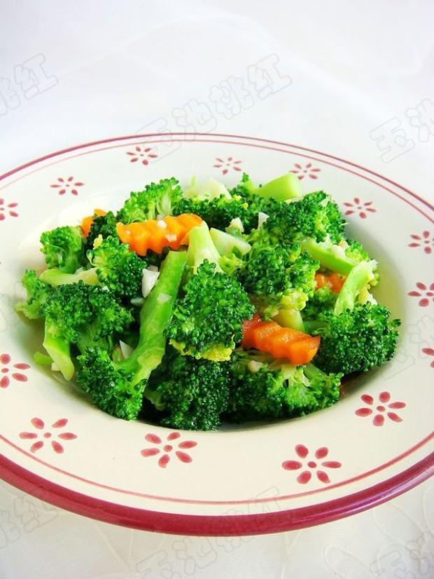 素菜小炒 蒜蓉西兰花的做法,如何做,蒜蓉西兰花怎么做好吃详细步骤图解