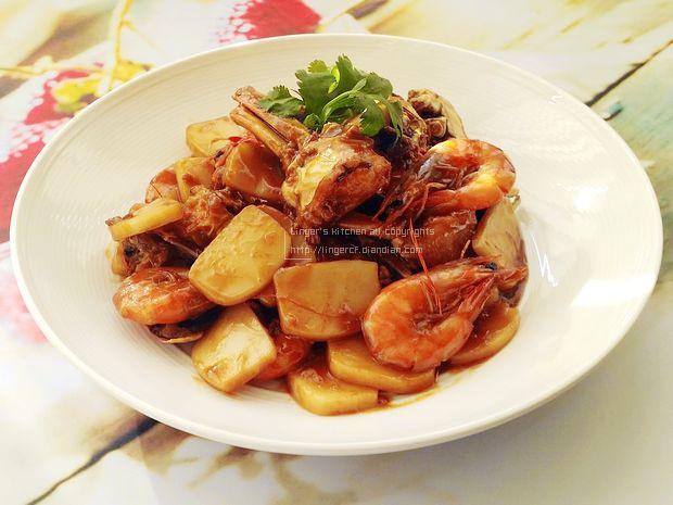 虾蟹炒年糕的做法,如何做,虾蟹炒年糕怎么做好吃详细步骤图解的做法