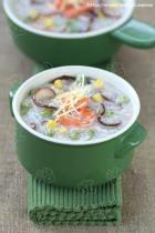 香菇田园蔬菜粥的做法