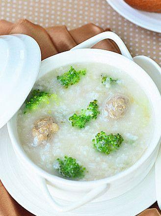 营养早餐食谱:西兰花肉丸粥的做法 www.027eat.com