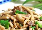 夏季清淡午餐:鲜茶树菇炒肉的做法