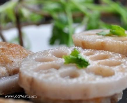 宴客荤菜 香煎藕饼的做法,如何做,香煎藕饼怎么做好吃详细步骤图解