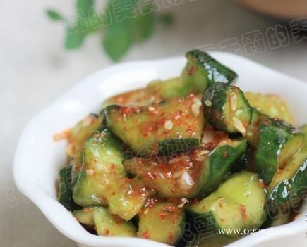 开胃素菜 红油黄瓜的做法,如何做,红油黄瓜怎么做好吃详细步骤图解