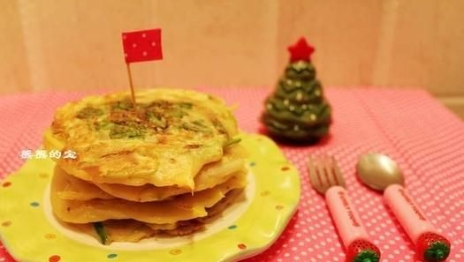 韩式葱香土豆煎饼的做法