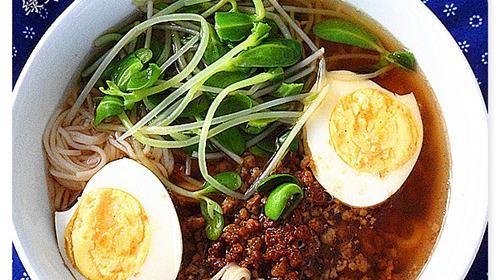 豆苗肉末清汤面的做法,如何做,豆苗肉末清汤面怎么做好吃详细步骤图解