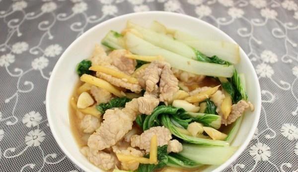 青菜炒肉片的做法,如何做,青菜炒肉片怎么做好吃详细步骤图解