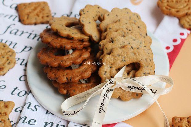 红糖黑芝麻饼干的做法图解,如何做,红糖黑芝麻饼干怎么做好吃详细步骤