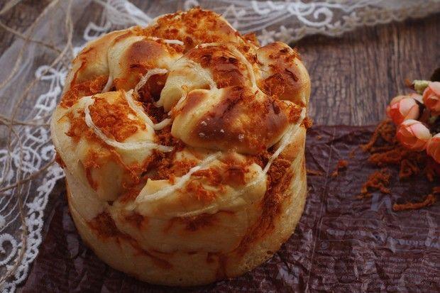 肉松手撕面包_肉图解撕糜子的大黄松手,做山西做法面包米图片