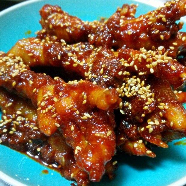 韩式辣鸡爪的做法
