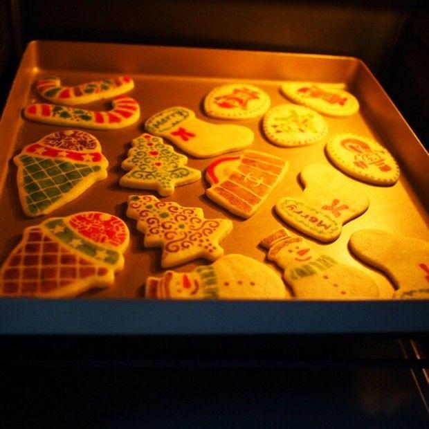 圣诞印花饼干的做法图解,如何做,圣诞印花饼干怎么做好吃详细步骤