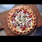萨米肠蘑菇花边披萨的做法