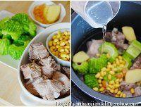 苦瓜黄豆排骨汤的做法第1步图片步骤 www.027eat.com