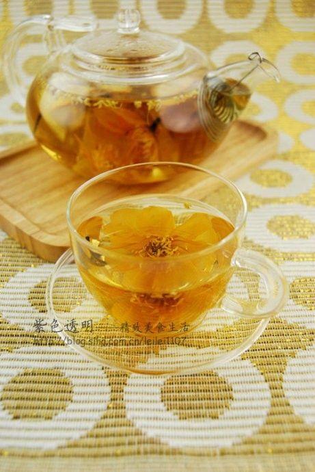 金莲金桔桂花茶的做法