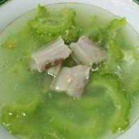 清火苦瓜咸肉汤的做法第1步图片步骤 www.027eat.com