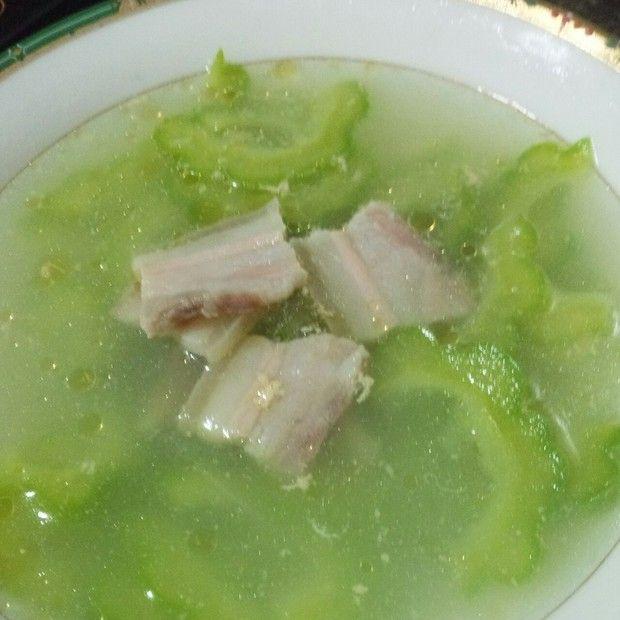 清火苦瓜咸肉汤的做法