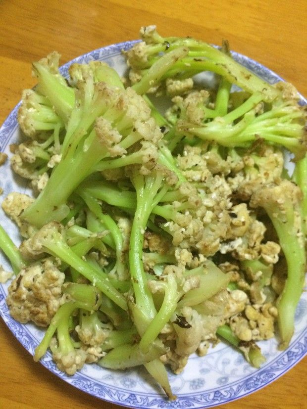 花菜炒蛋的做法