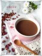 玫瑰红豆浆的做法