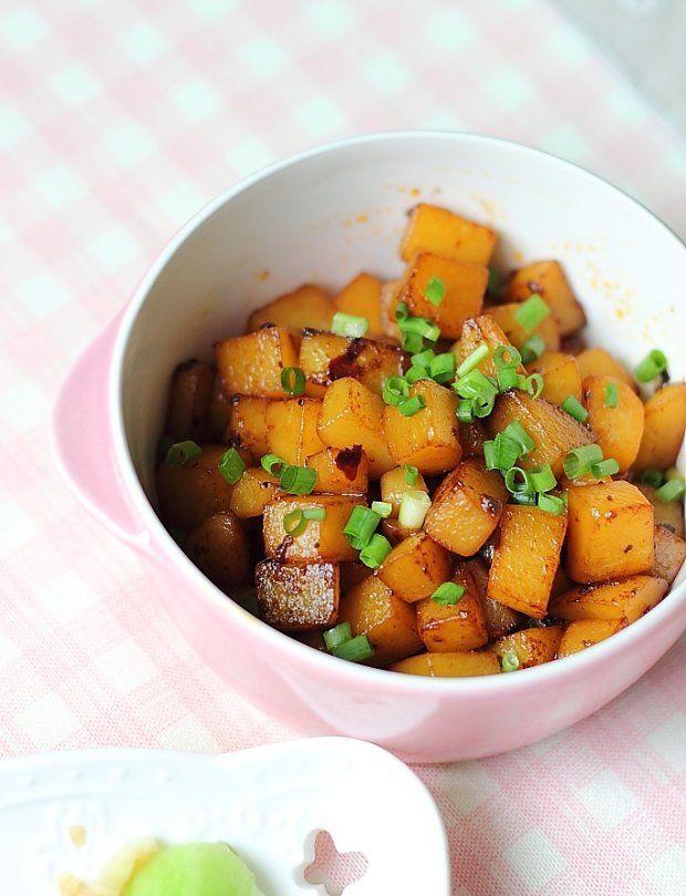 老干妈孜然土豆丁的做法图解,如何做,超级快手菜老干妈孜然土豆丁怎么做好吃详细步骤的做法